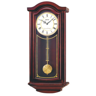 Seiko® Chime Wall Clock With Pendulum Brown Qxh118blh