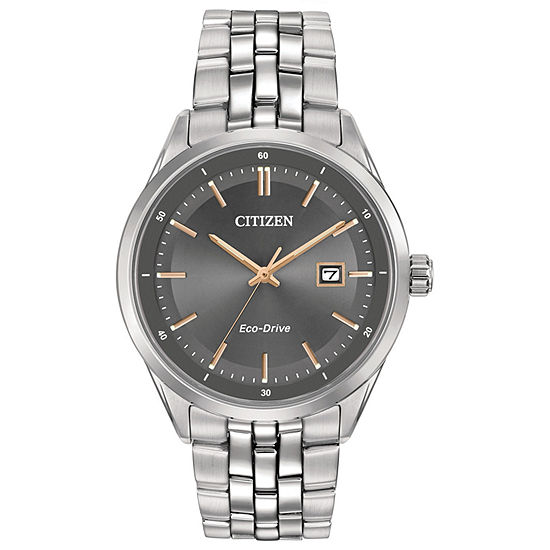 Citizen Corso Mens Silver Tone Stainless Steel Bracelet Watch - Bm7251-53h