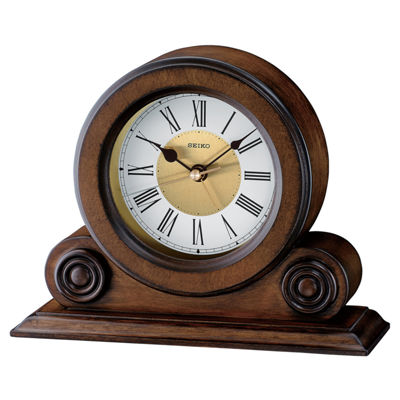Seiko® Desk And Table Clock With Alarm Brown Qxe026blh