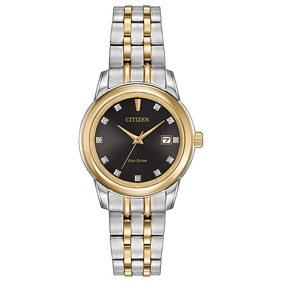 Citizen® Eco-Drive Ladies' Two Tone Watch With Diamond Accents Ew2394-59E