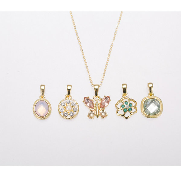 Gloria Vanderbilt Gold-Tone Interchangeable Pendant Necklace Set
