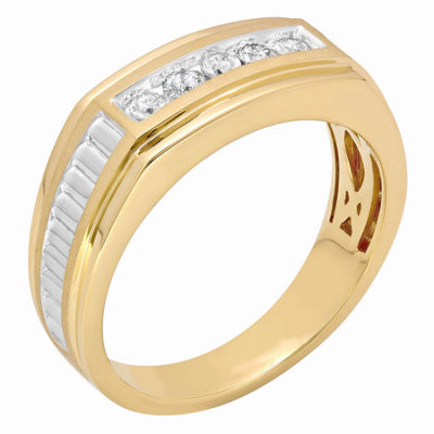 Mens 1/4 CT. T.W. Diamond 10K Yellow Gold Wedding Band