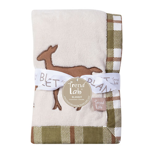 Trend Lab® Deer Lodge Framed Fleece Baby Blanket