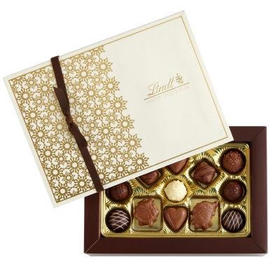Lindt & Sprungli Gourmet Truffles & Pralines Gift Box - 13.6 oz.