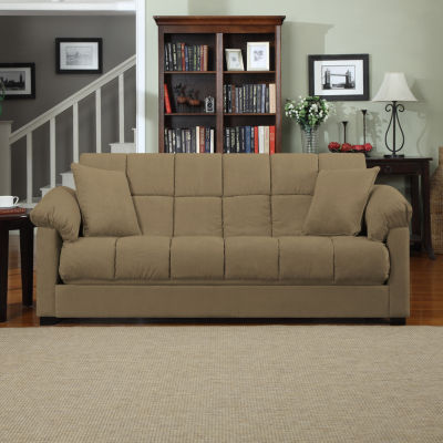 Taylor Pillow-Top Arm Microfiber Convert-a-Couch®