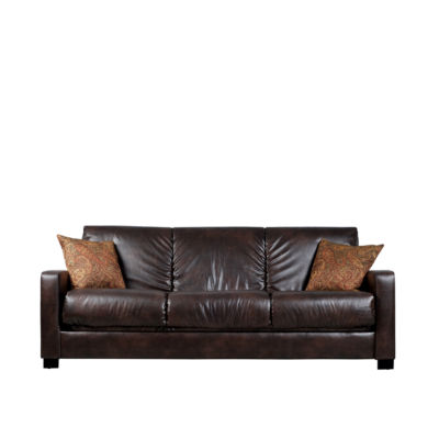 Sally Track Arm Faux Leather Convert A Couch®