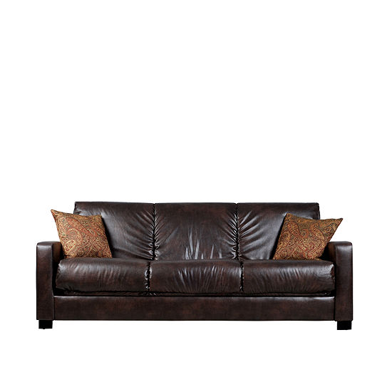 Pleasant Sally Track Arm Faux Leather Convert A Couch Frankydiablos Diy Chair Ideas Frankydiabloscom