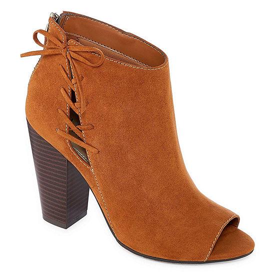 a.n.a Womens Jacky Booties Block Heel Zip