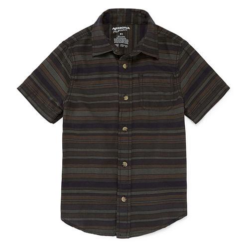 Arizona Short Sleeve Button-Front Woven Boys