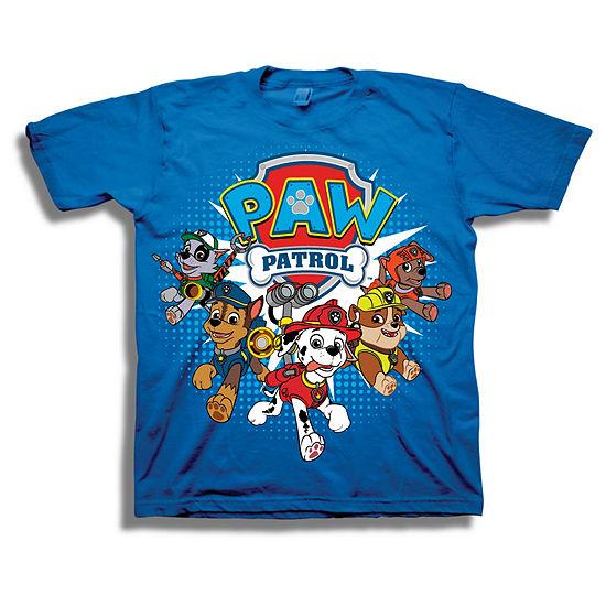 Boys Short Sleeve Paw Patrol Graphic T-Shirt-Toddler
