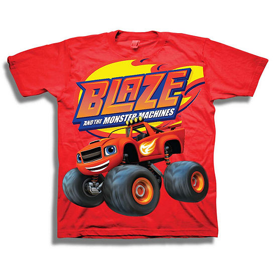 Nickelodeon Boys Short Sleeve Blaze and The Monster Machines Graphic T-Shirt-Toddler