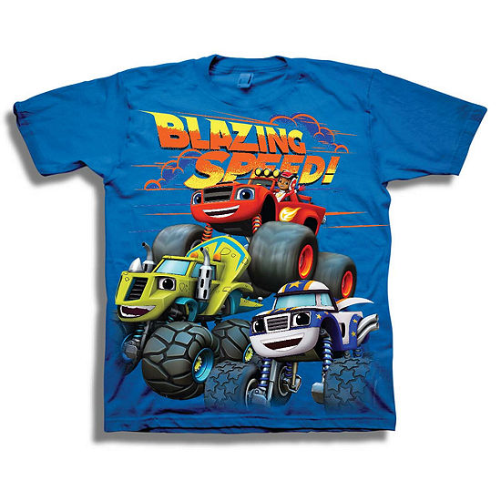 Nickelodeon-Toddler Boys Blaze and The Monster Machines Short Sleeve Graphic T-Shirt