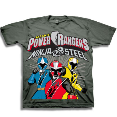 Short Sleeve Power Rangers T-Shirt-Toddler Boys 2t-5t