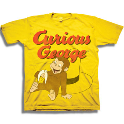 Curious George Boys Short Sleeve Graphic T-Shirt-Toddler