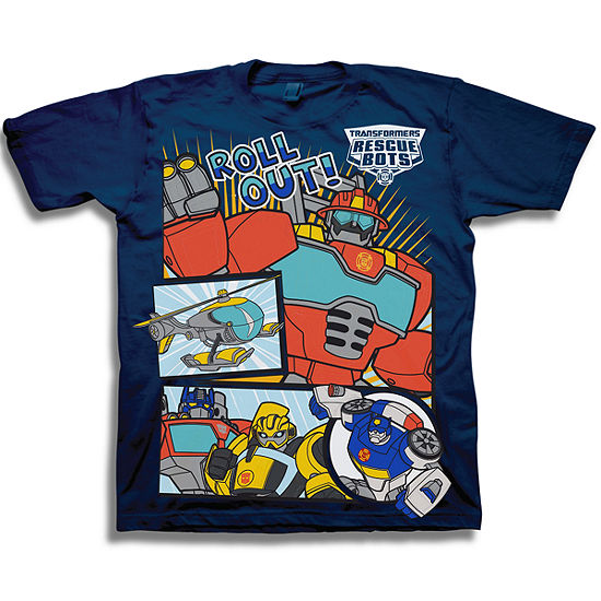 Boys Short Sleeve Transformers Graphic T Shirt Toddler