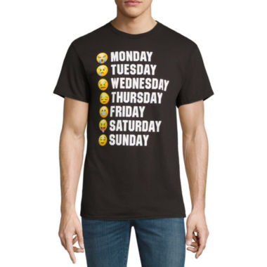 Days of the Week Faces SS Tee