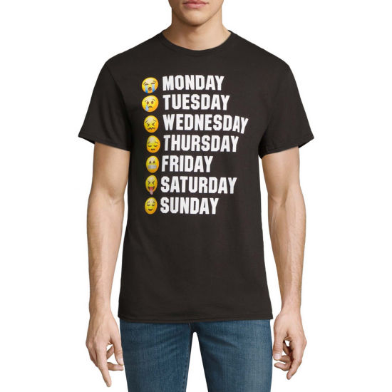 Days of the Week Faces Graphic Tee