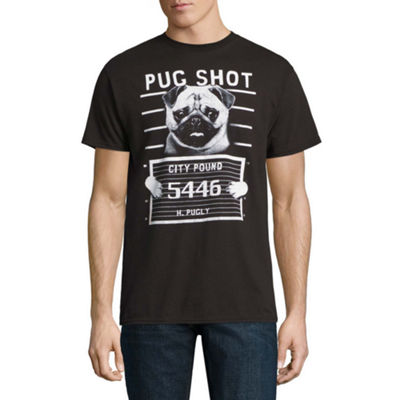 Pug Mug Shot Graphic Tee