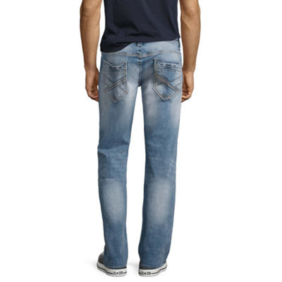 Decree Mens Low Rise Straight Fit Straight Leg Jean