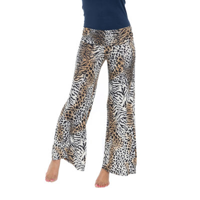 White Mark Animal Palazzo Pants
