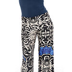 White Mark Womens Mid Rise Wide Leg Palazzo Pant