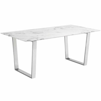 Atlas Stainless Steel-Top Dining Table