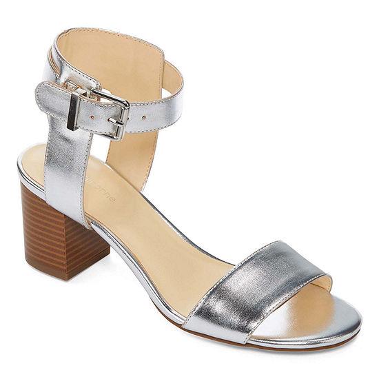 Liz Claiborne Womens Eclipse Pumps Peep Toe Block Heel