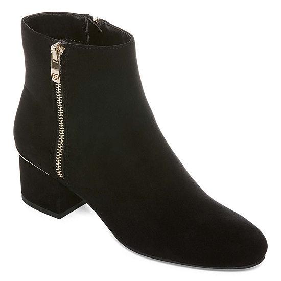 07eddeef47b8 Liz Claiborne Womens Goldie Booties Block Heel Zip - JCPenney