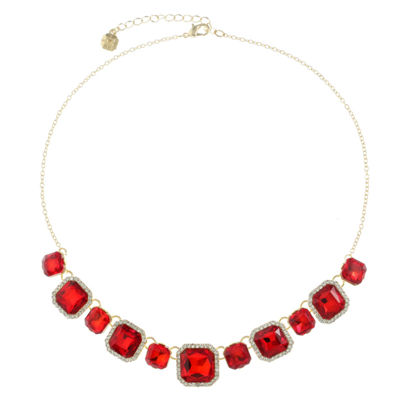 Monet Jewelry Womens Red Collar Necklace