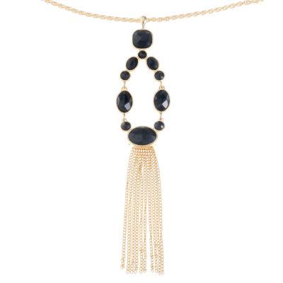 Monet Jewelry Black Pendant
