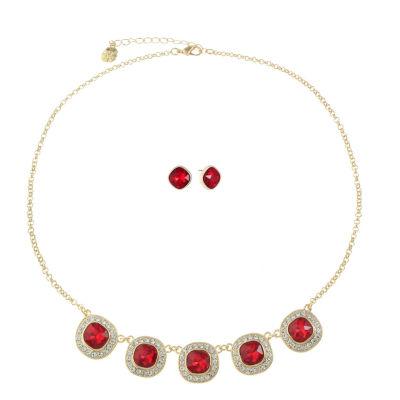 Monet Jewelry Womens 2-pc. Red Jewelry Set