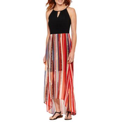 Weslee Rose Sleeveless Stripe Maxi Dress