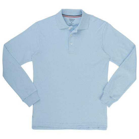FRENCH TOAST Long Sleeve INTERLOCK POLO Boys 8-20 and Husky
