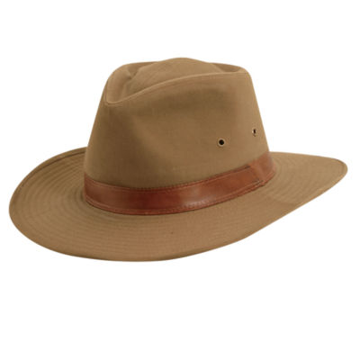 Dorfman Pacific® Shapeable Outback Hat with Leather Band