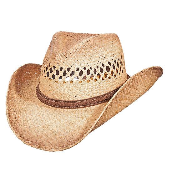 Scala™ Pinch Front Raffia Cowboy Hat