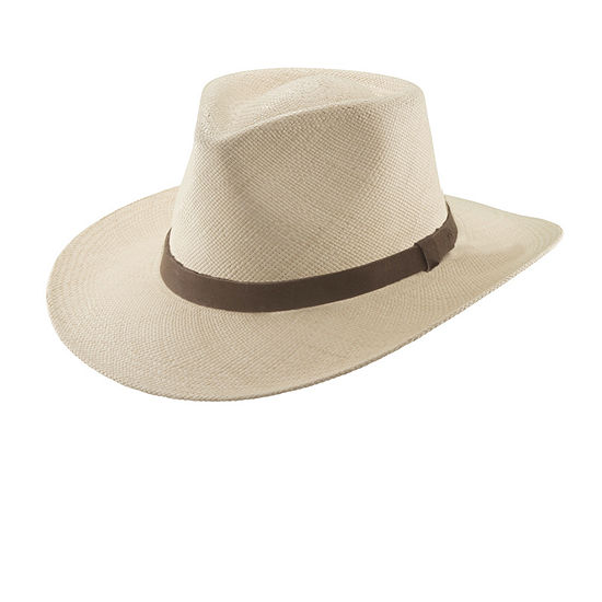 Scala™ Panama Outback Hat with Leather Band