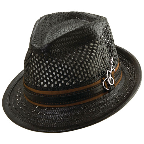 Vented Toyo Fedora with Leather Band
