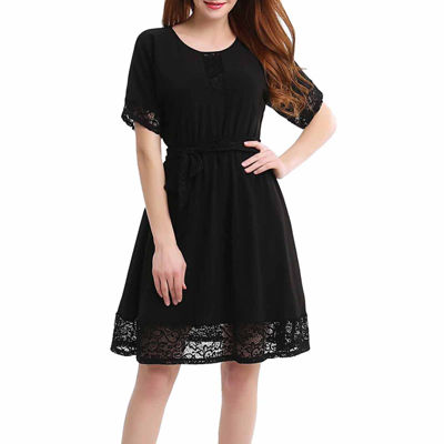 Phistic Brandy Short Sleeve Fit and Flare Dress