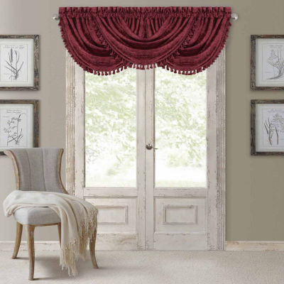 Elrene Rod-Pocket Waterfall Valance
