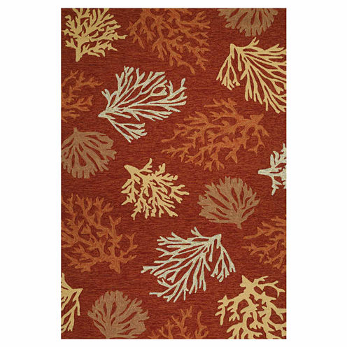 Couristan Outdoor Escapes Sea Reef Hooked Rectangular Rugs