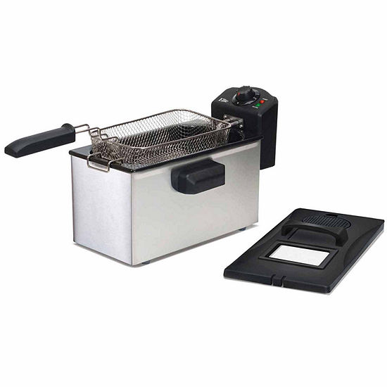 Elite Gourmet EDF-3507 3.5-Quart Immersion Deep Stainless Steel Fryer