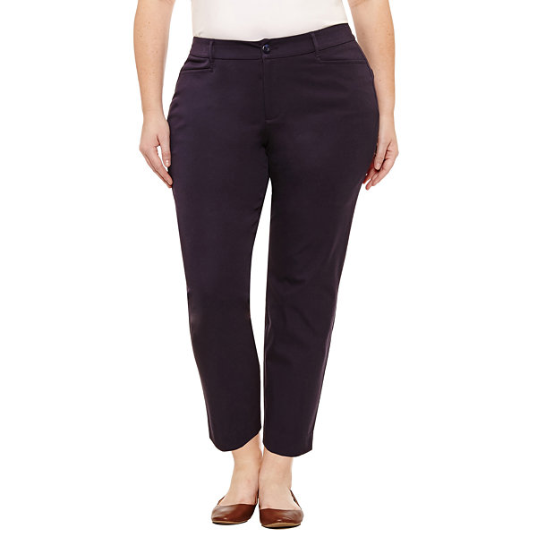 "St. John's Bay® Ankle Pants - Plus (27"")"