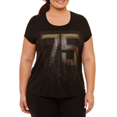 Xersion Short Sleeve Round Neck Graphic T-Shirt