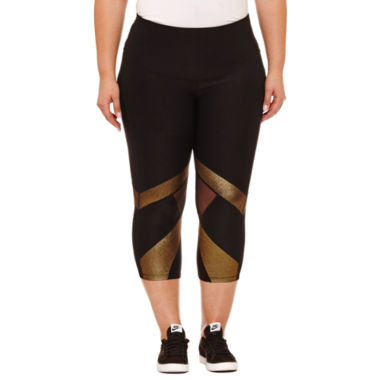 Xersion Woven Workout Capris Plus