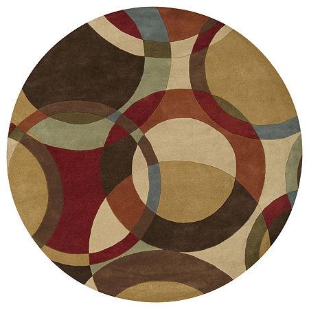 Decor 140 Gavar Hand Tufted Round Indoor Rugs, One Size , Brown