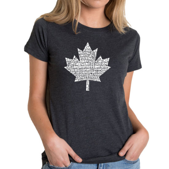 Los Angeles Pop Art Women's Premium Blend Word ArtT-shirt - CANADIAN NATIONAL ANTHEM