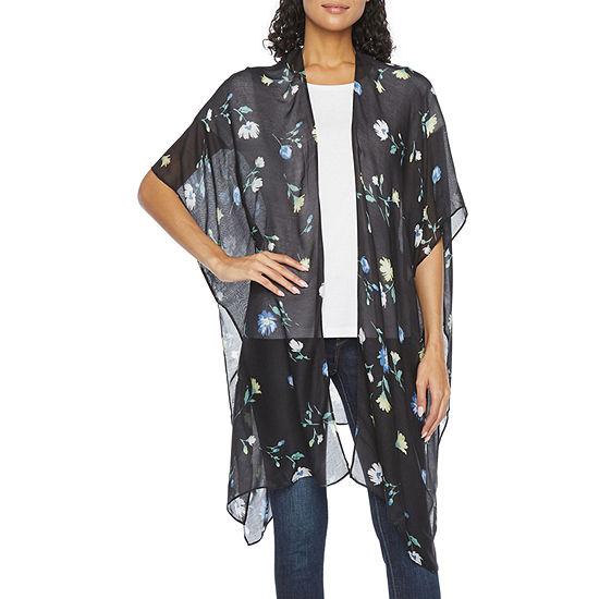 a.n.a Womens Elbow Sleeve Kimono