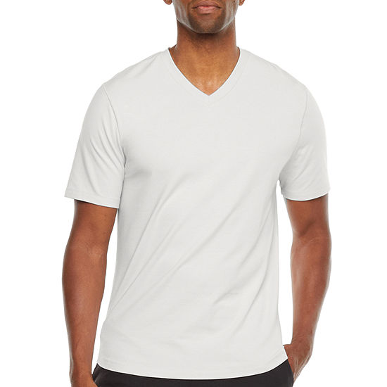 Stylus Mens Stretch Pima Cotton V Neck Short Sleeve T-Shirt