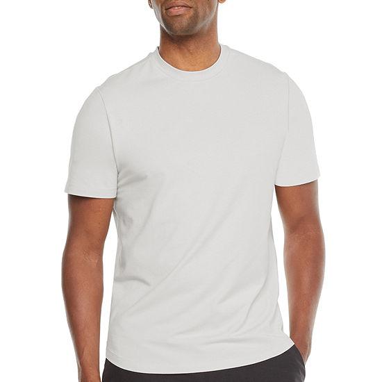 Stylus Mens Stretch Pima Cotton Crew Neck Short Sleeve T-Shirt