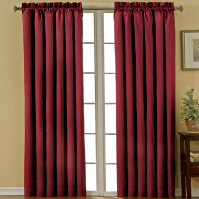 Eclipse Canova Energy Saving Blackout Rod-Pocket Single Curtain Panel